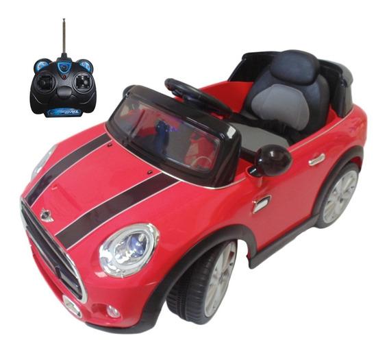 Carro Electrico Mini Cooper Rojo Con Control