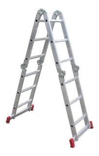 Escada Articulada Aluminio Dobravél 4x3 12 Degraus 3.39 Mts