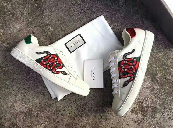 Tênis Gucci Ace Embroidered Cobra Branco Premium (35 Ao 42)