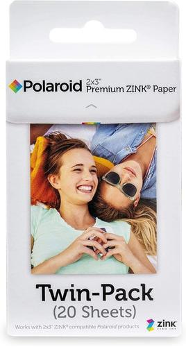 Polaroid 2x3 Premium Zink Zero Photo Paper Pack De 20 Hojas