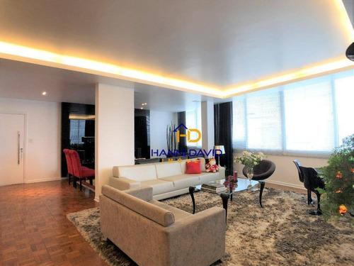 Ótimo Apartamento Á Venda No Paraíso, 254m², Com Vista Para Avenida Paulista, Próximo Metrô Paraíso, 3 Dormitórios Sendo 2 Suítes, 2 Vagas Cobertas. - Ap3655