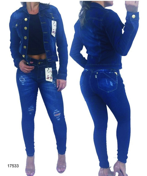 Kit Jaqueta E Calça Jeans Set For Bojo Empina Bumbum