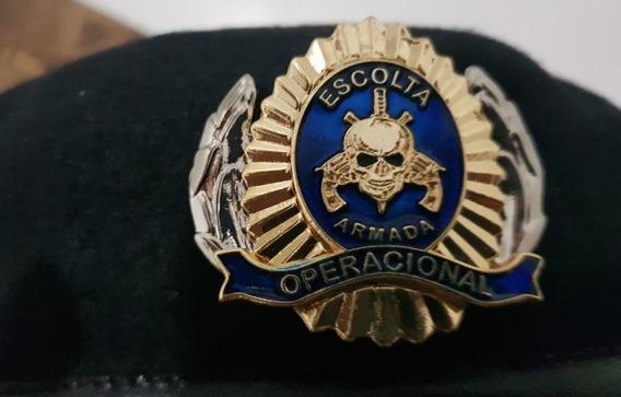 Brasão De Boinas-escolta Armada-fundo Azul
