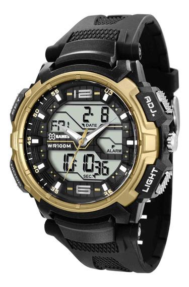 Relógio Xgames Xmppa199 Bxpx Masc Preto Dourado- Refinado