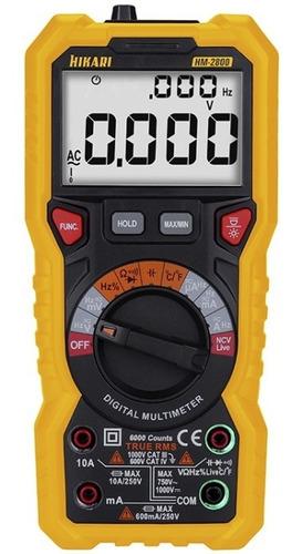 Multímetro Digital Profissional Hikari Hm 2800 Display Lcd