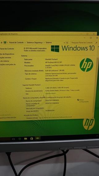 Desktop Hp Prodesk 600 G2 Sff Intel Core I5 8gb 500gb
