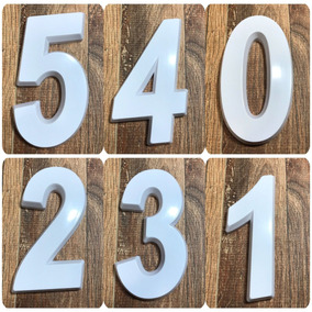 Número Residencial Branco 3d 14cm De Altura
