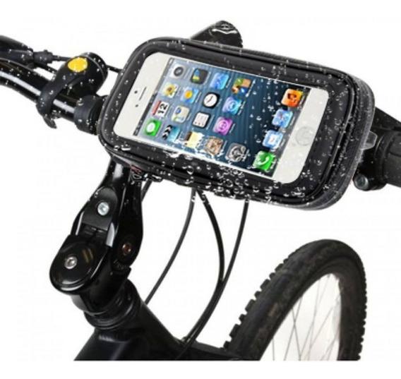 Soporte Celular Moto Bici Impermeable 5 Pulgadas - Polotecno