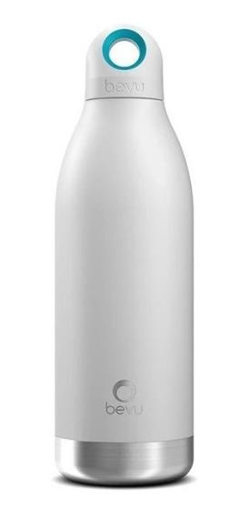 Termo / Botella Térmica Bevu De 450 Ml /15oz Color Blanco.