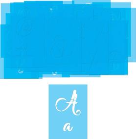 Stencil Vazado Alfabeto Abecedário Letras E Números 15x10,5