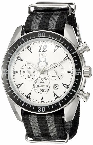 Reloj Jivago Timeless Nylon Negro Chrono Hombre Jv4510nbk