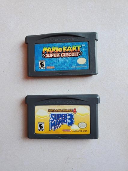 Mario Kart Super Circuit Y Super Mario Advanced 4 Gba