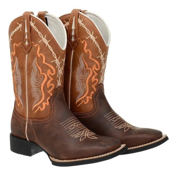 Bota Texana Country Couro Legitimo M2135