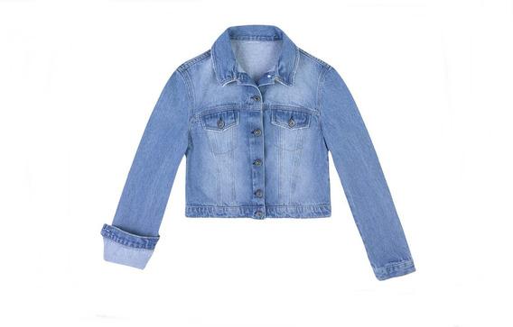 Jaqueta Jeans Fem. Tipo Cropped Em Algodão Hering - 324h86m