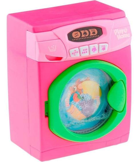 Lavadora De Brinquedo Infantil Sweet Home Play Home Rosa