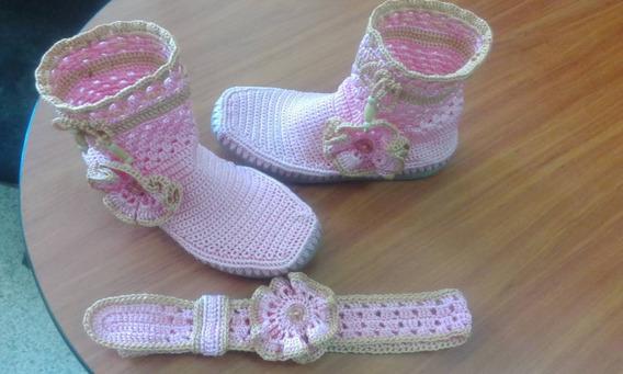 Zapatos Botas Botines Tejido Damas, Niñas, Niños, Bebés