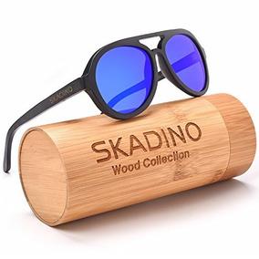 5919ae2fca Skadino Gafas De Sol De Bambu Hechas A Mano Con Lentes Polar
