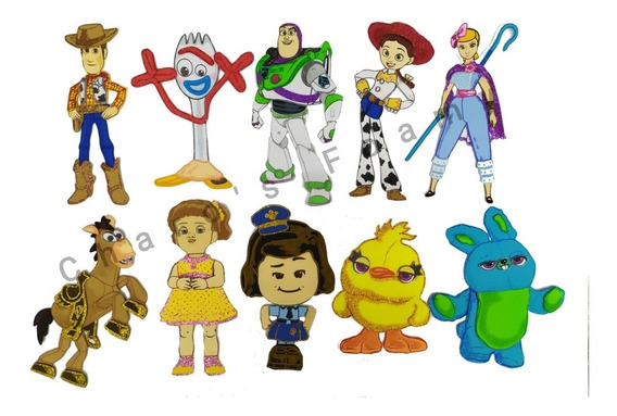 Toy Story 4 De Foamy T. Dulcero Kit Con 15 Piezas Fomi 20cm