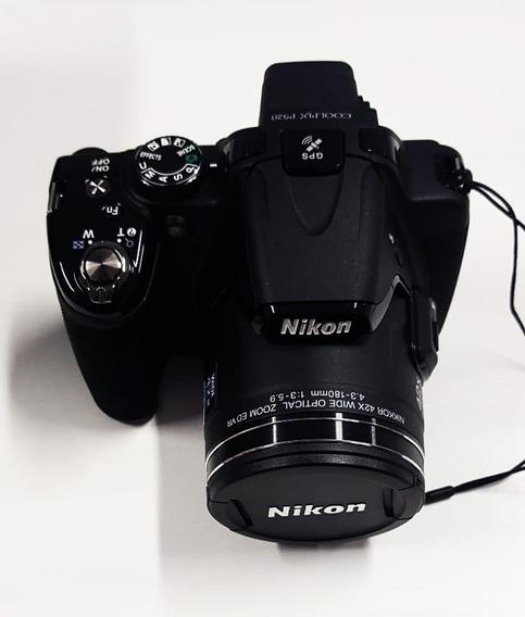Câmera Nikon Colpix P520 18.1mp 42x Zoom Óptico Top De Linha