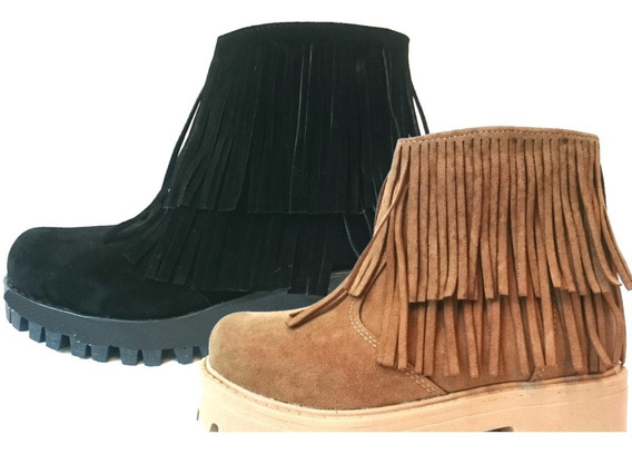 Botas Nena Con Flecos, Botitas Nena,calzado Infantil 21 A 33