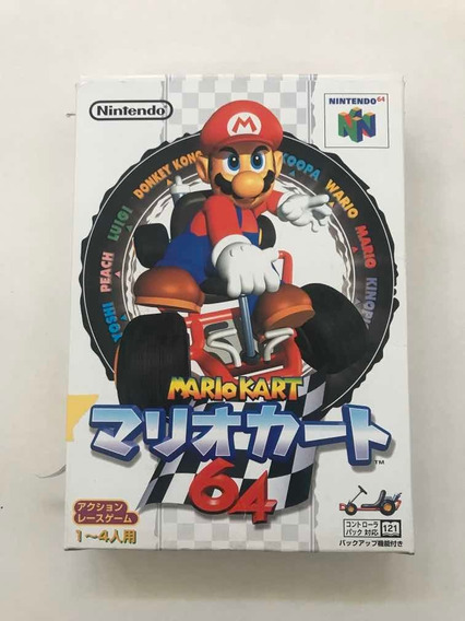 Mário Kart 64 Nintendo 64 Japonês Conservadíssimo!