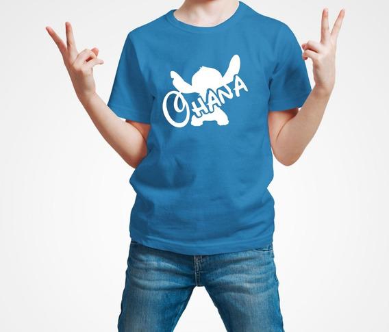 Playera Stitch Ohana Lilo Disney Niño 1 Pieza