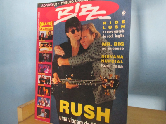 Revista Bizz Num 83 Rush Mr Big Completo Com Fichas 1992