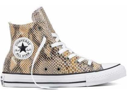 Converse Hi Animal Print Doradas Serpiente Sneakers Cuero