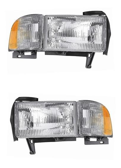 Par Faros Dodge Pickup Ram 1994 1995 1996 - 2002 Depo Rxc
