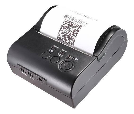 Mini Impressora Térmica Bluetooth 2.0 80mm Velocidade 90mm/s