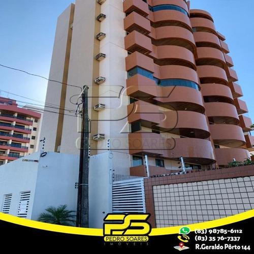 Apartamento Com 3 Dormitórios À Venda, 93 M² Por R$ 350.000 - Bessa - João Pessoa/pb - Ap2325