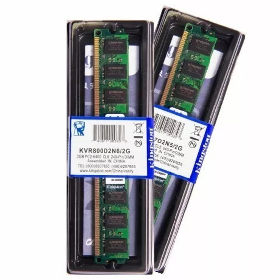 Memória Kingston Ddr2 2gb 800 Ou 667 Mhz Desktop 16 Chips
