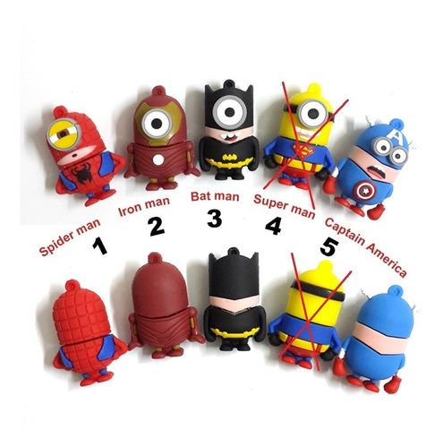 Pendrive Minions  Super Heroes 16 Gb