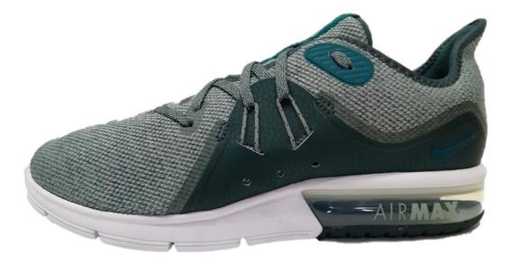 Tenis Nike Air Max Sequent 3 Verde/gris Envío Gratis Y Meses