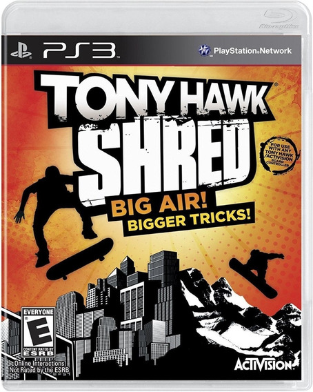 Game Tony Hawk: Shred - Ps3 (novo Lacrado)