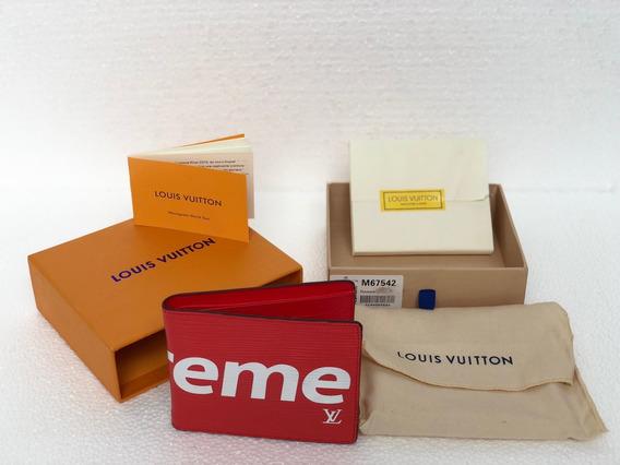 Billetera Louis Vuitton Supreme 100% Original Con Codigo