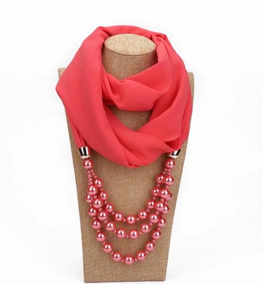 Precioso Collar Con Bufanda, Mascada, Pashmina Diadema Scarf