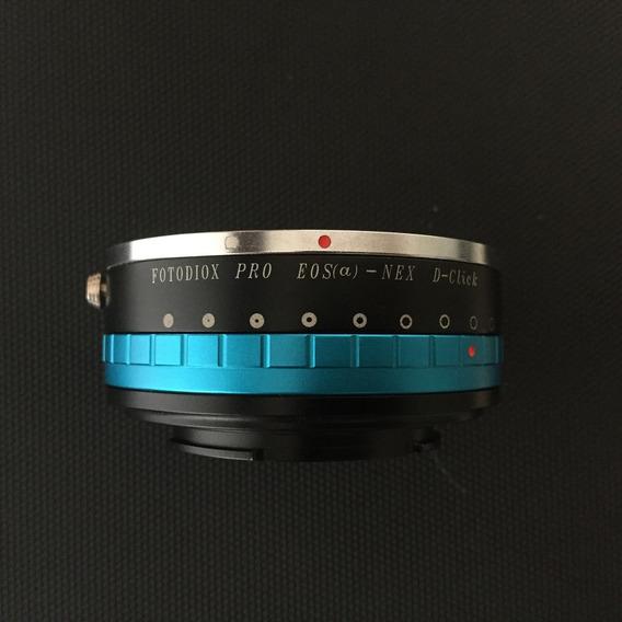 Adaptador Fotodiox - Lente Canon Eos Para Sony Nex Semi Novo