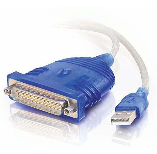 Imagen 1 de 7 de Cable Adaptador C2g 22429 Usb A Db25 Serial Rs232, Gris (6 P