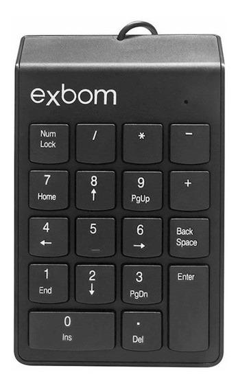 Teclado Numérico Usb 18 Teclas Exbom Bk-n30 Preto