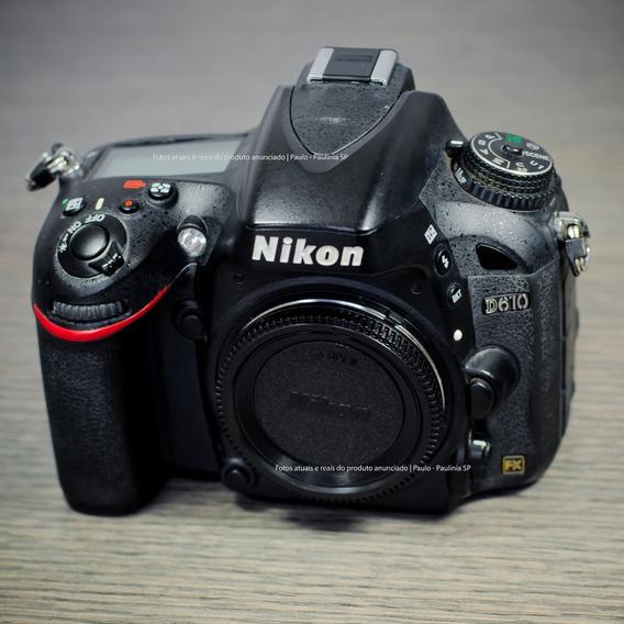Câmera Nikon D610 (30.000 Cliques) Impecável