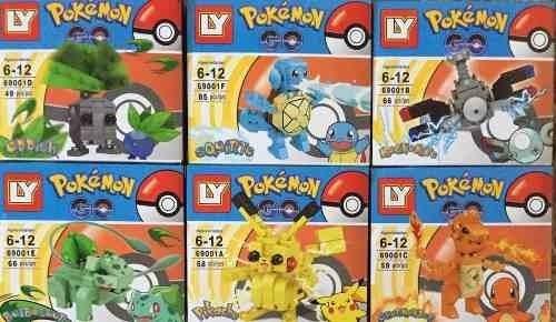 Kit Com 6 Caixas Pokemon - Blocos