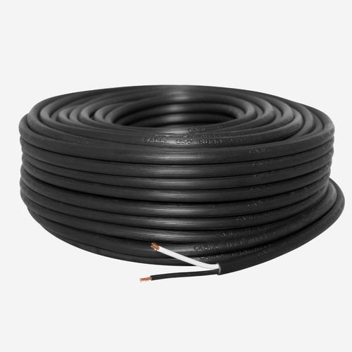 Cable Uso Rudo 2x10 Alucobre 100 Metros Negro