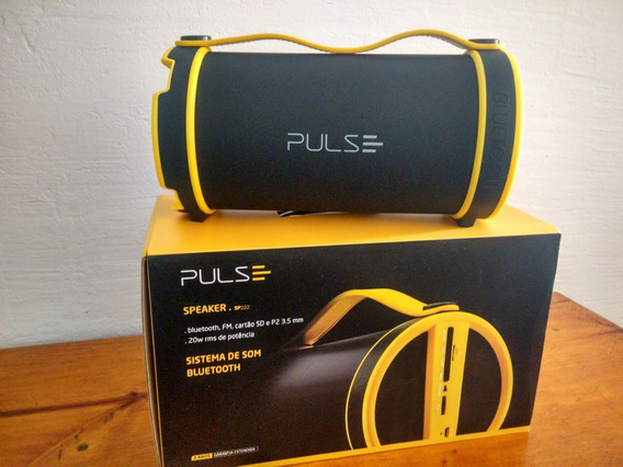 Caixa De Som Pulse Sp 222 - Bluetooth - Sd - P2 - 20 Rms