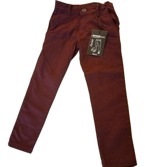 Pantalon De Niño Gabardina Entubado Skinny Premium