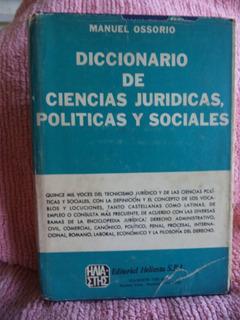 Diccionario De Ciencias Jurídicas, Políticas Y Social Cpx030