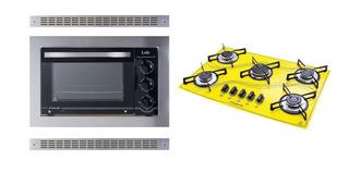Kit Forno De Embutir 45l E Cooktop 5q Amarelo Safanelli 220v