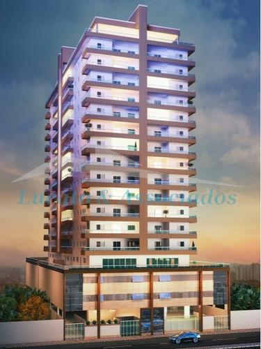 Imagem 1 de 16 de Apartamento Novo Na Vila Caiçara Em Praia Grande Sp, 02 Dormitórios Sendo 01 Suíte, 02 Vagas De Garagem. - Ap01521 - 33288567