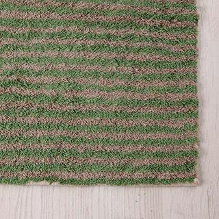 Alfombra Baño Rayada Verde 45x60