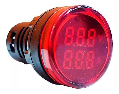Imagen 1 de 2 de Voltimetro Y Amperimetro 220v Led Digital Zurich 100a